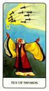 Ten of Swords Tarot card in Chinese Tarot deck
