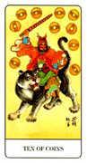 Ten of Coins Tarot card in Chinese Tarot deck
