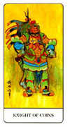 Knight of Coins Tarot card in Chinese Tarot deck