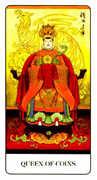 Queen of Coins Tarot card in Chinese Tarot deck