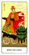 King of Coins Tarot card in Chinese Tarot deck