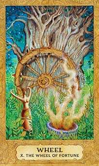The Wheel of Fortune Tarot Card - Chrysalis Tarot Deck