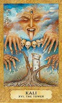 The Falling Tower Tarot Card - Chrysalis Tarot Deck
