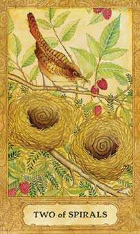 Two of Rods Tarot Card - Chrysalis Tarot Deck