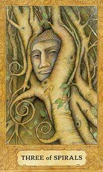 Three of Pipes Tarot Card - Chrysalis Tarot Deck