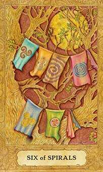 Six of Staves Tarot Card - Chrysalis Tarot Deck