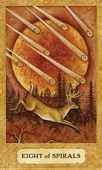 Eight of Rods Tarot Card - Chrysalis Tarot Deck
