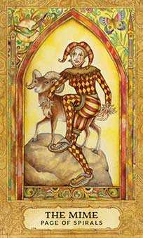 Page of Lightening Tarot Card - Chrysalis Tarot Deck