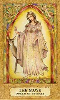 Queen of Rods Tarot Card - Chrysalis Tarot Deck