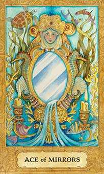 Ace of Ghosts Tarot Card - Chrysalis Tarot Deck