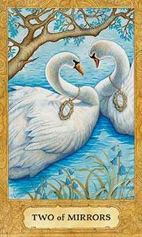 Two of Hearts Tarot Card - Chrysalis Tarot Deck
