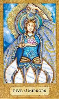 Five of Bowls Tarot Card - Chrysalis Tarot Deck