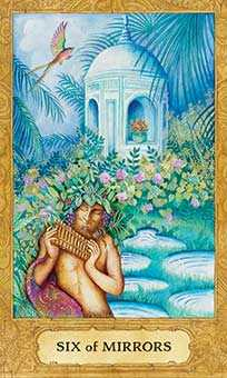 Six of Hearts Tarot Card - Chrysalis Tarot Deck