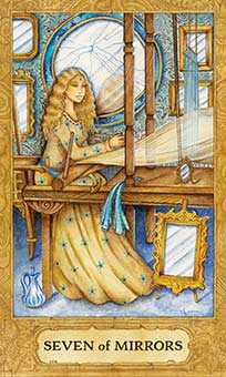 Seven of Bowls Tarot Card - Chrysalis Tarot Deck