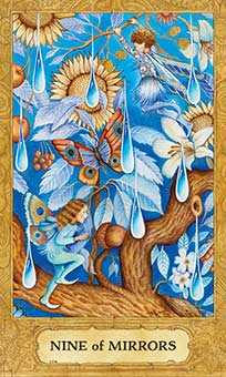Nine of Ghosts Tarot Card - Chrysalis Tarot Deck