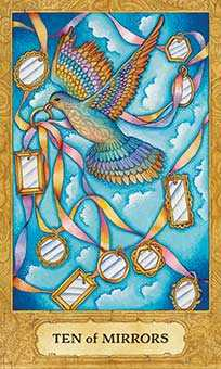 Ten of Ghosts Tarot Card - Chrysalis Tarot Deck