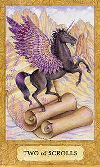 Two of Wind Tarot Card - Chrysalis Tarot Deck