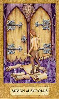 Seven of Bats Tarot Card - Chrysalis Tarot Deck