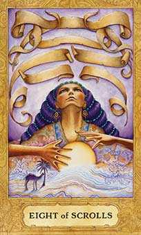 Eight of Wind Tarot Card - Chrysalis Tarot Deck