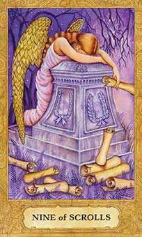 Nine of Arrows Tarot Card - Chrysalis Tarot Deck