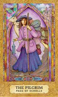 Page of Spades Tarot Card - Chrysalis Tarot Deck
