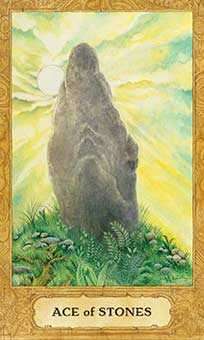Ace of Stones Tarot Card - Chrysalis Tarot Deck