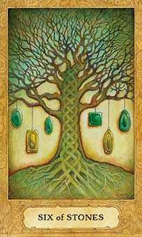 Six of Stones Tarot Card - Chrysalis Tarot Deck