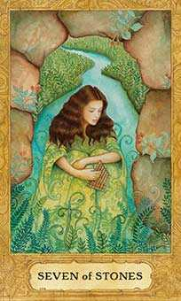 Seven of Stones Tarot Card - Chrysalis Tarot Deck