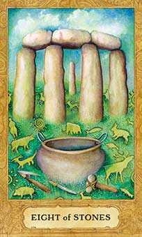 Eight of Stones Tarot Card - Chrysalis Tarot Deck