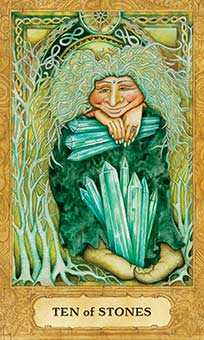 Ten of Stones Tarot Card - Chrysalis Tarot Deck
