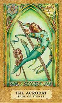 Valet of Coins Tarot Card - Chrysalis Tarot Deck