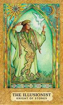 Knight of Buffalo Tarot Card - Chrysalis Tarot Deck