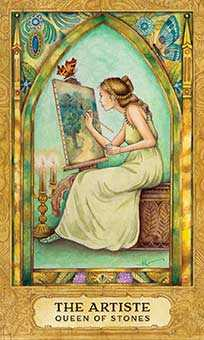 Queen of Discs Tarot Card - Chrysalis Tarot Deck