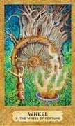 Wheel of Fortune Tarot card in Chrysalis deck