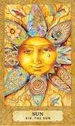 The Moon Tarot card in Chrysalis Tarot deck