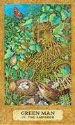 The Emperor Tarot card in Chrysalis deck
