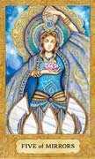 Five of Cups Tarot card in Chrysalis Tarot deck