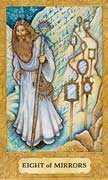 Eight of Cups Tarot card in Chrysalis Tarot deck