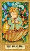 The Hierophant Tarot card in Chrysalis Tarot deck