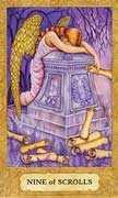 Nine of Swords Tarot card in Chrysalis Tarot deck