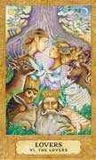 The Lovers Tarot card in Chrysalis deck