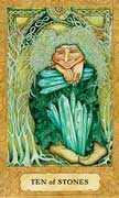 Ten of Coins Tarot card in Chrysalis Tarot deck