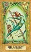 Page of Coins Tarot card in Chrysalis deck