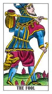 The Foolish Man Tarot Card - Classic Tarot Deck