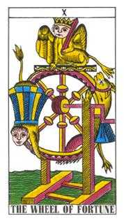 The Wheel of Fortune Tarot Card - Classic Tarot Deck