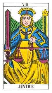 Justice Tarot Card - Classic Tarot Deck