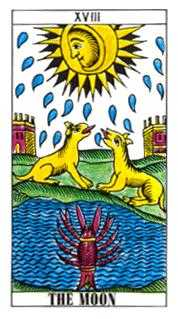 The Moon Tarot Card - Classic Tarot Deck