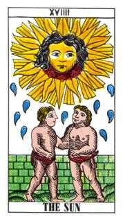 The Sun Tarot Card - Classic Tarot Deck