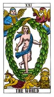 The Universe Tarot Card - Classic Tarot Deck