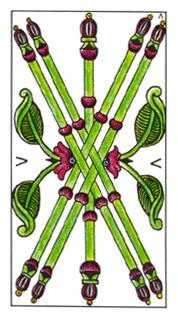 Five of Rods Tarot Card - Classic Tarot Deck